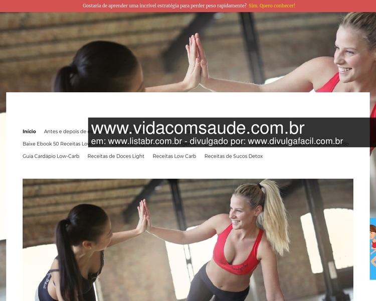 Vida Com Saúde Site especializado em dicas para emagrecimento, dieta low carb e sucos detox - Link compartilhado por www.listabr.com.br